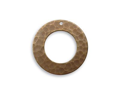 Vintaj Natural Brass Hammered Ring 21mm