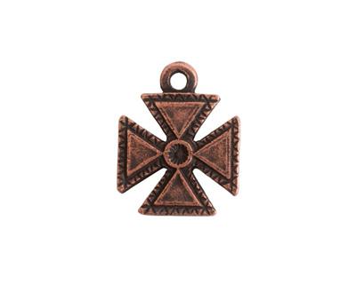 Nunn Design Antique Copper (plated) Patee Cross Charm 16x20mm