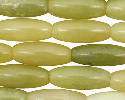 Olive Jade Rice 20-21x8mm