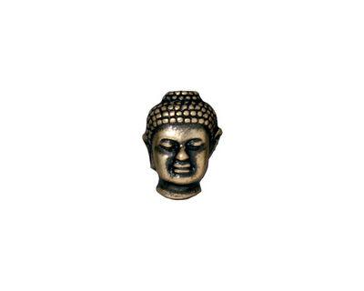 TierraCast Antique Brass (plated) Buddha Bead 13x10mm