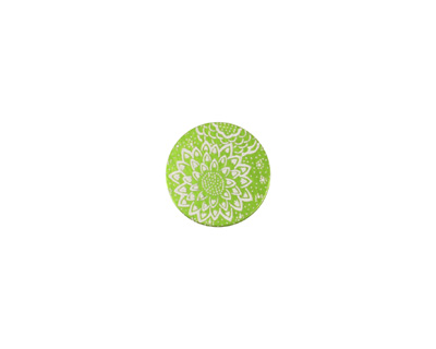 Lillypilly Lime Green Dahlia Anodized Aluminum Disc 11mm, 24 gauge