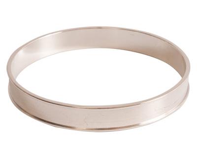 Nunn Design Sterling Silver (plated) Channel Bangle Bracelet 70mm