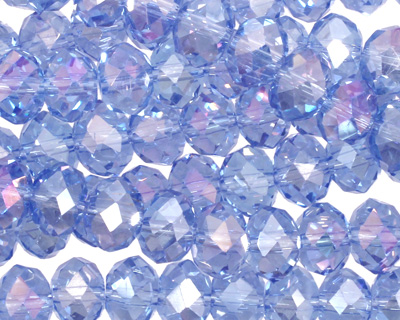 Light Sapphire AB Crystal Faceted Rondelle 8mm