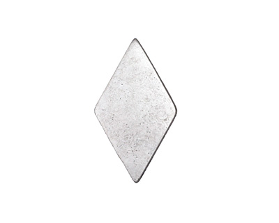 Zola Elements Antique Silver (plated) Diamond 7mm Flat Cord Slide 14x24mm