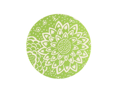 Lillypilly Lime Green Dahlia Anodized Aluminum Disc 25mm, 24 gauge