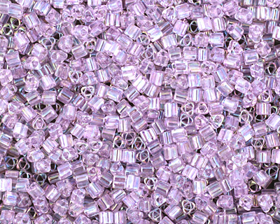 TOHO Transparent Rainbow Foxglove Triangle 11/0 Seed Bead