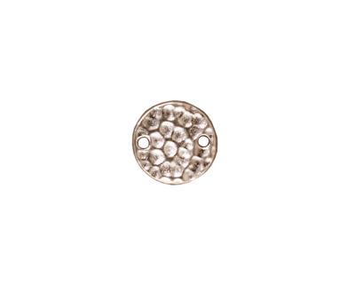 TierraCast Rhodium (plated) Hammertone Round Link 11mm