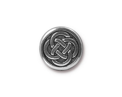 TierraCast Antique Silver (plated) Celtic Knot Button 16mm