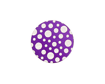 Lillypilly Purple Scattered Dots Anodized Aluminum Disc 19mm, 24 gauge