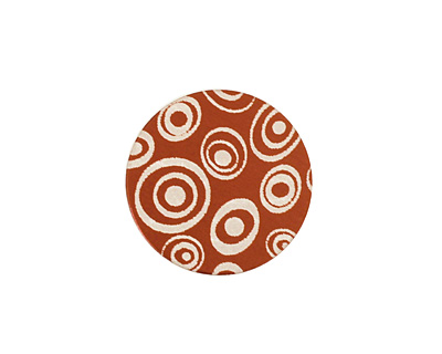 Lillypilly Bronze Groovy Circles Anodized Aluminum Disc 19mm, 24 gauge