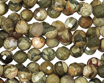 Rhyolite Faceted Round 6mm