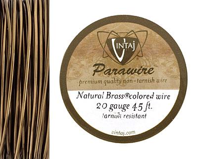 Vintaj Natural Brass Parawire 20 gauge, 45 feet