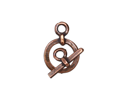 Greek Bronze (plated) Small Simple Toggle 13x19mm, Bar 16mm