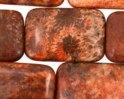 Fossil Jasper (red) Thin Pillow 30-31x20mm