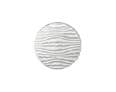 Lillypilly Silver Zebra Anodized Aluminum Disc 19mm, 22 gauge
