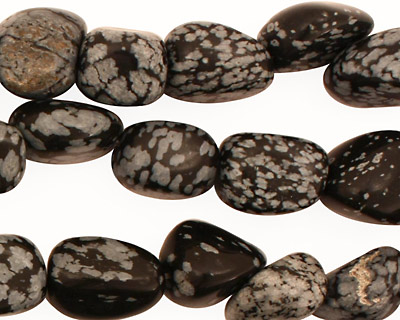 Snowflake Obsidian Tumbled Nugget 13-20x12-20mm
