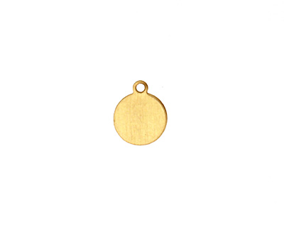 Brass Circle Blank Charm 9x10mm