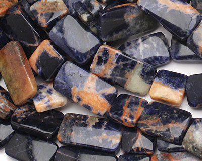 Orange Sodalite Thin Pillow & Square Mix 13mm