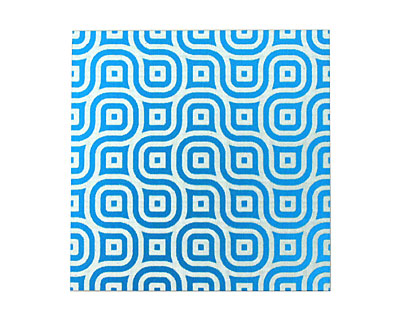 Lillypilly Turquoise Maze Anodized Aluminum Sheet 3