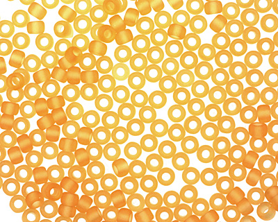 TOHO Transparent Frosted Light Topaz Round 8/0 Seed Bead