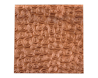 Lillypilly Antique Groovy Circles Embossed Patina Copper Sheet 3