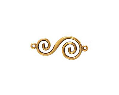 Nunn Design Antique Gold (plated) Swirl Connector 32x14mm