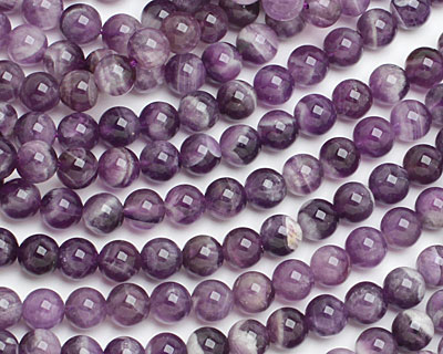 Dogtooth Amethyst (A) Round 8mm