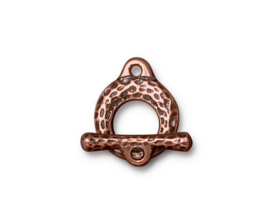 TierraCast Antique Copper (plated) Maker's Toggle Clasp 6x13.5mm, 18mm Bar