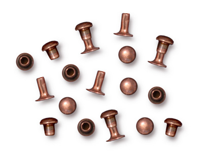 TierraCast Antique Copper (plated) Compression Rivet Set 4mm