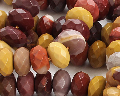 Mookaite Faceted Rondelle 10mm