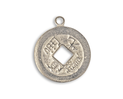 Vintaj Pewter Fortune Coin 21x26mm