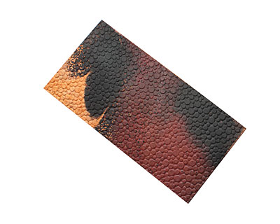 Lillypilly Rojo Y Negro Pebbles Embossed Patina Copper Sheet 3