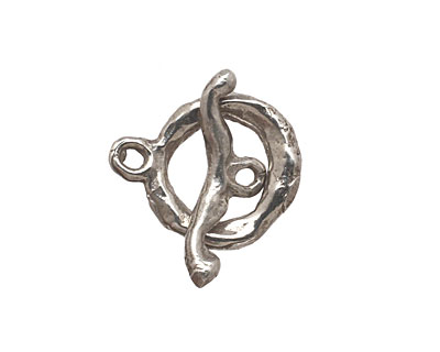 Green Girl Sterling Silver Branch Toggle 16x19mm, 22mm bar