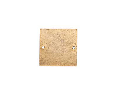 Nunn Design Antique Gold (plated) Flat Small Square Tag Link 23mm