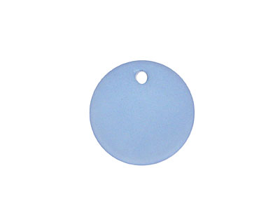 Light Sapphire Recycled Glass Concave Coin 18mm