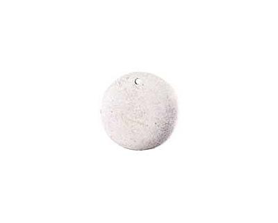 Nunn Design Antique Silver (plated) Flat Small Circle Tag 20mm