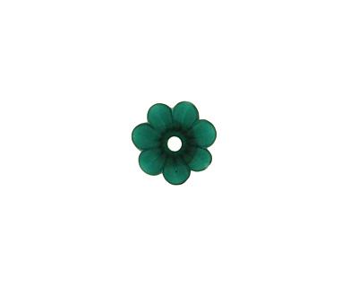 Matte Emerald Lucite Daisy 3x10mm