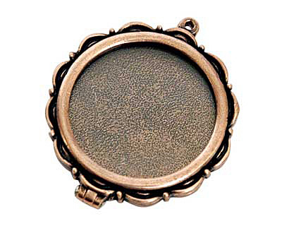 Nunn Design Antique Copper (plated) Large Scallop Locket 40mm