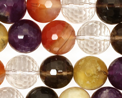 Multi Stone Faceted Round 12mm