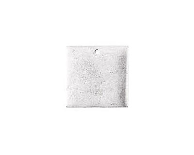 Nunn Design Antique Silver (plated) Flat Small Square Tag 23mm