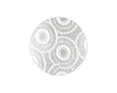 Lillypilly Silver Dandelion Anodized Aluminum Disc 25mm, 22 gauge