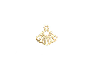 Amoracast 14K Gold (plated) Sterling Silver Ginkgo Charm 11x10mm