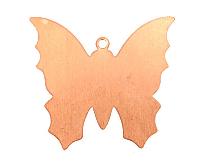 Copper Monarch Butterfly Blank 34x31mm