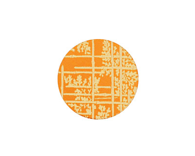 Lillypilly Orange Bamboo Anodized Aluminum Disc 19mm, 24 gauge