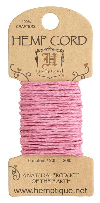 Light Pink Hemp Twine 20 lb, 20 ft