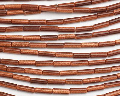Goldstone Tube 13x4mm