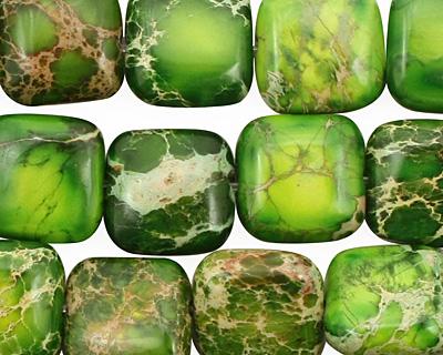 Green Impression Jasper Puff Square 12mm