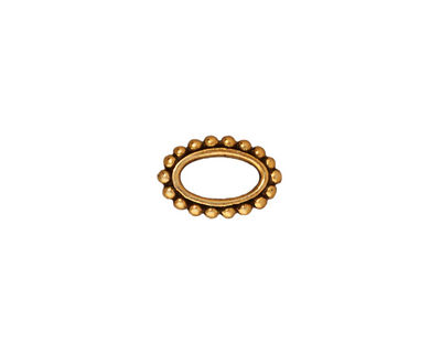 TierraCast Antique Gold (plated) Beaded Oval 12x8mm
