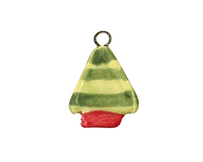 Jangles Ceramic Green Tree Charm 16-19x21-24mm