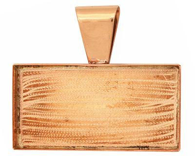 Copper Rectangle Bezel 43x22mm